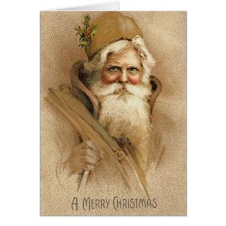 Vintage Santa / Father Christmas Greeting Card