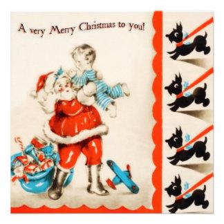 Vintage Santa Flat Christmas Card