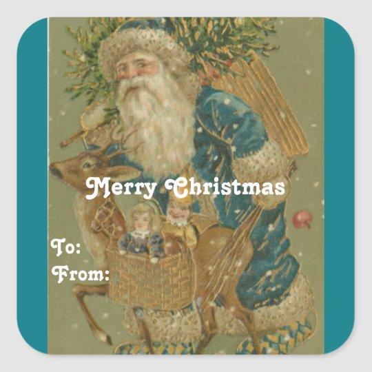 Vintage Santa Gift Tag