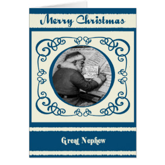 Vintage Santa Great Nephew Christmas Card
