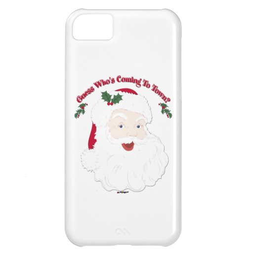 Vintage Santa Guess Who's Coming? Case For iPhone 5C