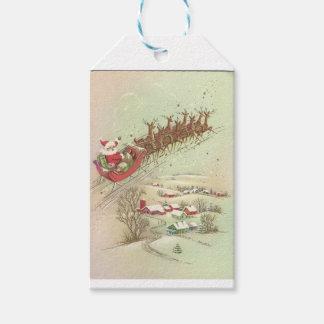 Vintage Santa In Sleigh Gift Tags