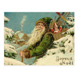 Vintage Santa - Joyeux Noel Postcards