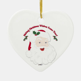 Vintage Santa Making Christmas Dreams Come True! Christmas Ornament