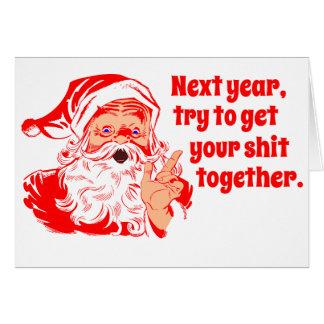 Vintage Santa, Next year Greeting Card