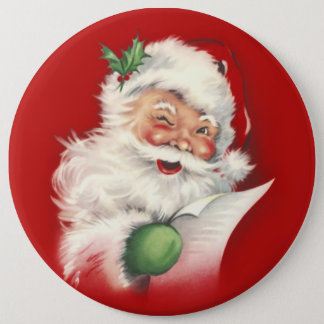 Vintage Santa Reworked! 6 Cm Round Badge