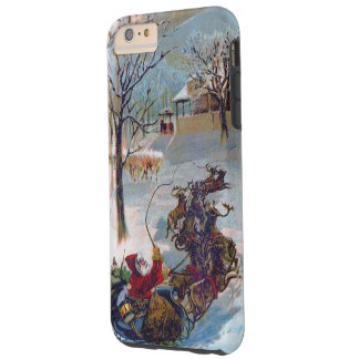 Vintage Santa Sleigh Christmas Tough iPhone 6 Plus Case