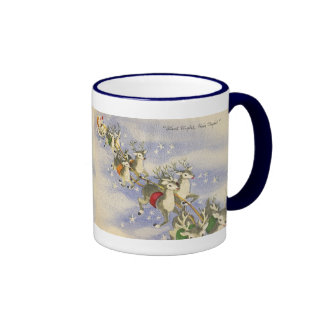 Vintage_Santa_Sleigh_mug Coffee Mugs