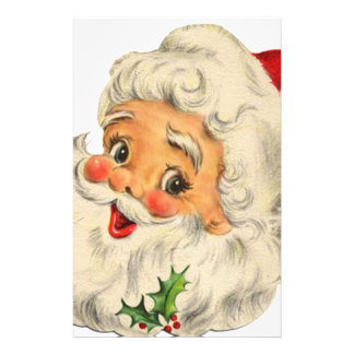 vintage Santa snow Christmas winter holiday 14 Cm X 21.5 Cm Flyer