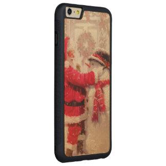 Vintage Santa Snowman Scene Carved® Maple iPhone 6 Plus Bumper Case