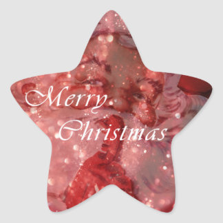 Vintage Santa Sparkles Star Sticker