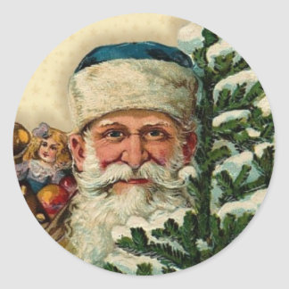 Vintage Santa: Stickers