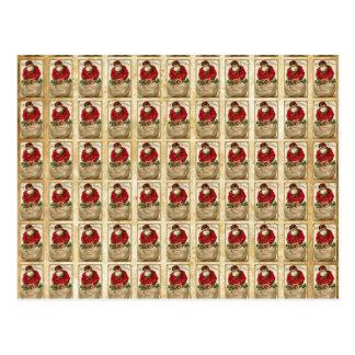 Vintage Santa with Bag Pattern Postcard