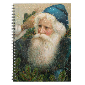 Vintage Santa with Blue Cap Notebooks