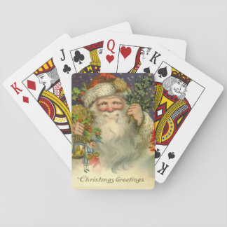 Vintage Santa with Toy Playing Cards