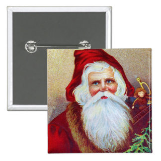 Vintage Santa with Toys and Tree Buttons