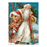 Vintage Santa with toys Party Cards