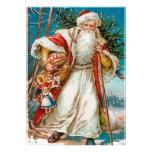 Vintage Santa with toys Party invites