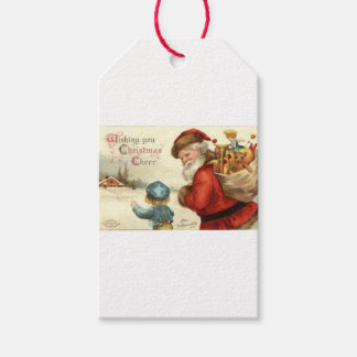 VINTAGE SANTA WRAPPING PAPER ETC GIFT TAGS