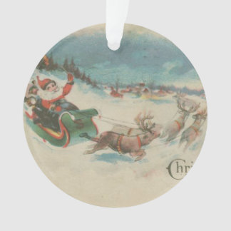 Vintage Santa's Sleigh and Reindeer