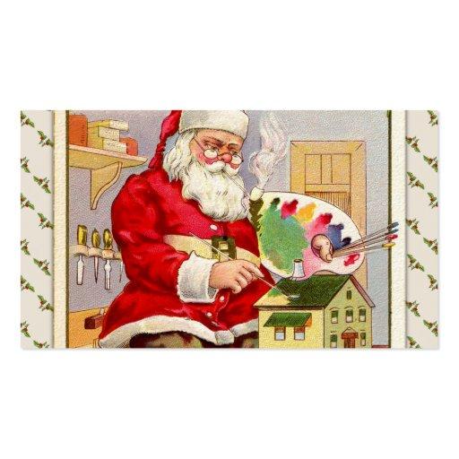 Vintage Santa's Workshop Business Card