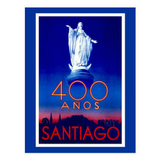Vintage Santiago Postcard