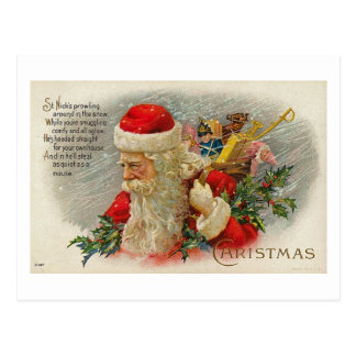 Vintage Sants Christmas St. Nick Card Postcard