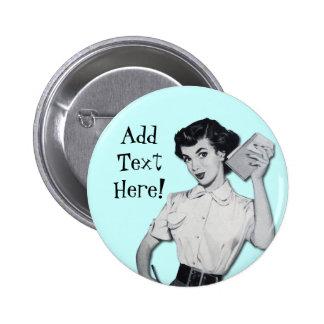 Vintage Sassy Secretary Pinback Buttons