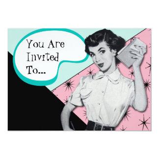 Vintage Sassy Secretary Invitation