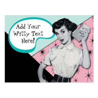 Vintage Sassy Secretary Postcard