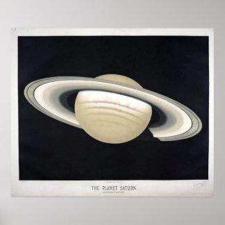 Vintage Saturn Poster