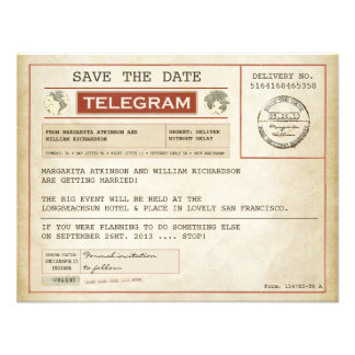 vintage save the date old telegrams announcement