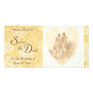 Vintage Save the Date Personalized Photo Card