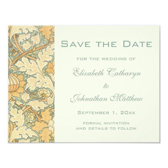 Vintage Save the Date William Morris Floral Flower