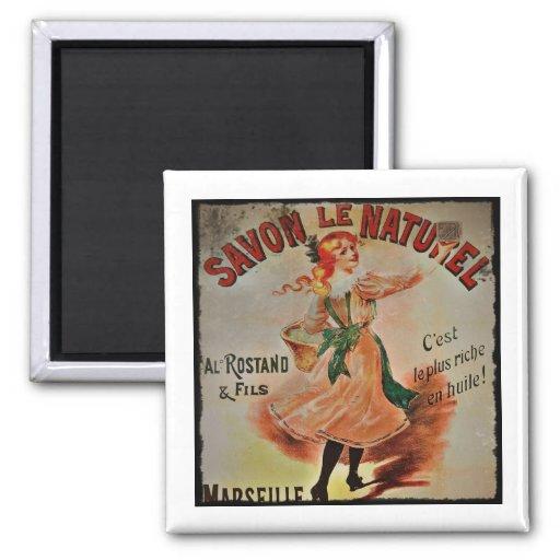 Vintage Savon Naturel Soaps Fridge Magnet