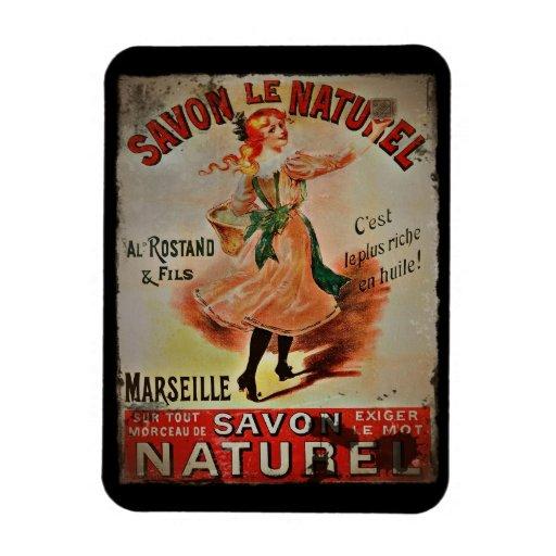 Vintage Savon Naturel Soaps Vinyl Magnets