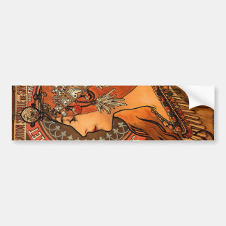 Vintage Savonnerie de Bagnolet by Alfons Mucha Bumper Sticker
