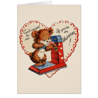 Vintage Scale Valentine's Day Greeting Card