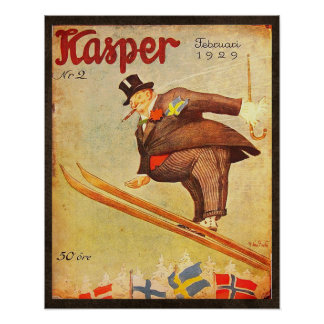 Vintage Scandinavian Cigar Ad Poster