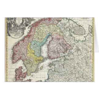 Vintage Scandinavian Map Card