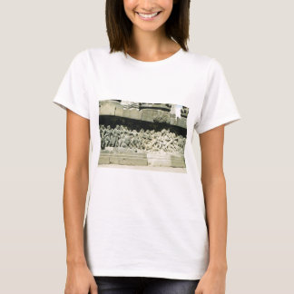 Vintage scene in Central Java, temple, agriculture T-Shirt