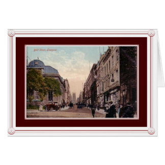 Vintage scene of Liverpool, England Card