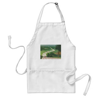 Vintage Scenic American Highways, Cars Road Trip Aprons