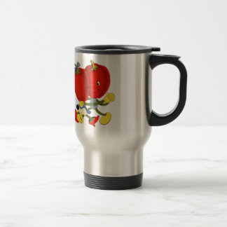 Vintage School Valentine Kitsch Red Peppers Dance Stainless Steel Travel Mug