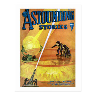 Vintage Sci Fi Comic Astounding Stories - Pirates Postcard