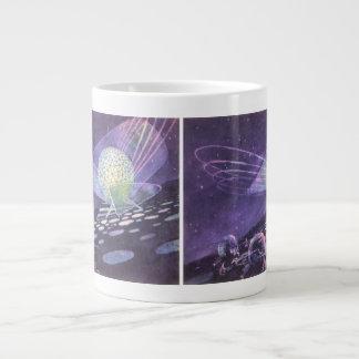Vintage Science Fiction, a Glowing Orb with Aliens Jumbo Mug