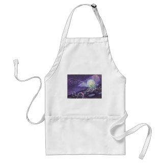 Vintage Science Fiction, a Glowing Orb with Aliens Standard Apron