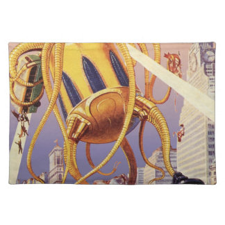 Vintage Science Fiction Alien War Invasion Octopus Placemat