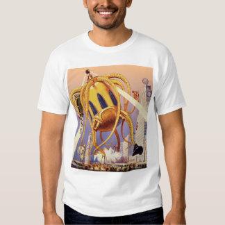 Vintage Science Fiction Alien War Invasion Octopus Shirt