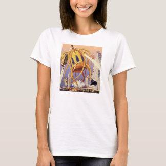 Vintage Science Fiction Alien War Invasion Octopus T-Shirt